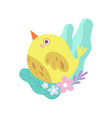 cute little yellow bird symbol of spring vector image vector image
