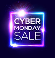 cyber monday card for internet online shopping vector image vector image