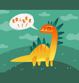 dinosaur poster cute dino funny monsters kids vector image vector image