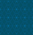 dotted line geometric hexagon seamless pattern vector image