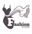 fashion store or boutique isolated icon female vector image
