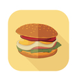 Fastfood Burger Set 6 vector image vector image