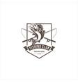 fishing sport club logo vector image vector image