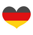 flag germany in a heart shape icon flat style vector image
