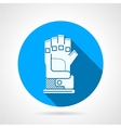 Flat round icon for sport glove vector image vector image