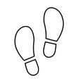 footprints icon set vector image