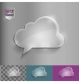 Glass speech bubble cloud icon with soft shadow on vector image vector image