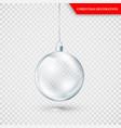 glass transparent christmas decoration xmas vector image