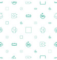 glossy icons pattern seamless white background vector image vector image