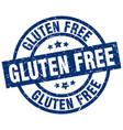 gluten free blue round grunge stamp vector image vector image