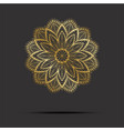 golden mandala oriental pattern with mandala vector image