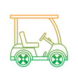 golf sport car vehicle transport vector image vector image