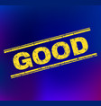 good scratched stamp seal on gradient background vector image vector image