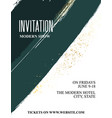 green gold tender invitation old luxury vector image