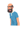 grumpy bearded man male character facial emotions vector image vector image
