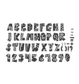 grunge full alphabet and numerals vector image vector image