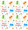 happy birthday colorful pattern background vector image vector image