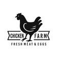 hen chicken logo for butchery meat shop vector image