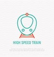 high speed train thin line icon vector image