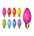 holiday colored light bulbs vector image vector image