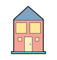 house with roof and windows with door vector image vector image
