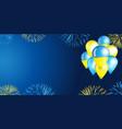 independence day ukraine background vector image
