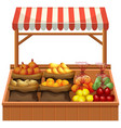 isolated fresh vegetable stall vector image