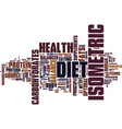 isometric diet and balanced health text
