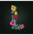 L letter Flower capital alphabet Colorful font