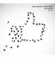 like icon flying birds isolated symbol vector image