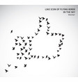 like icon of flying birds isolated symbol vector image