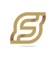 Logo Letter Infinity Alphabet Lettering S Design vector image vector image