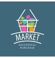 logo market vector image