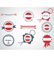 Made in Austria - set of seals badges vector image