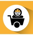 man worker mining design icon vector image vector image