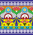 mexican talavera pottery seamless pattern vector image vector image