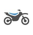 motorbike flat icon vector image
