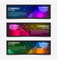 neon banners poster retro styledesignabstract vector image