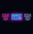 night club neon sign night club design vector image