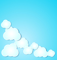 Paper clouds background on blue vector image vector image