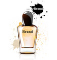perfume bottle watercolor product vector image vector image
