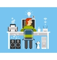 Programmer On Workplace Concept vector image vector image