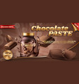 promotion banner of chocolate paste vector image vector image