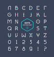 rounded font alphabet with dots effect let vector image
