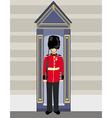royal British guardsman holding a rifle and vector image