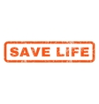 Save Life Rubber Stamp vector image vector image