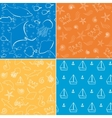 sea life seamless patterns collection vector image vector image