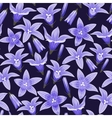 Seamless background with bellflowers vector image vector image