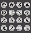 set of 16 editable repair icons includes symbols vector image vector image