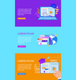 set of educational banners distance e-learning vector image vector image